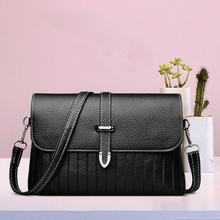The new 2019 hot sale soft leather one shoulder wild casual high quality large capacity fashion solid color Messenger bag
