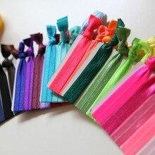 Ассорти, 100 шт./лот, эластичные резинки для волос, браслет, напульсники, конский хвост, держатель, аксессуары для волос, высокое качество