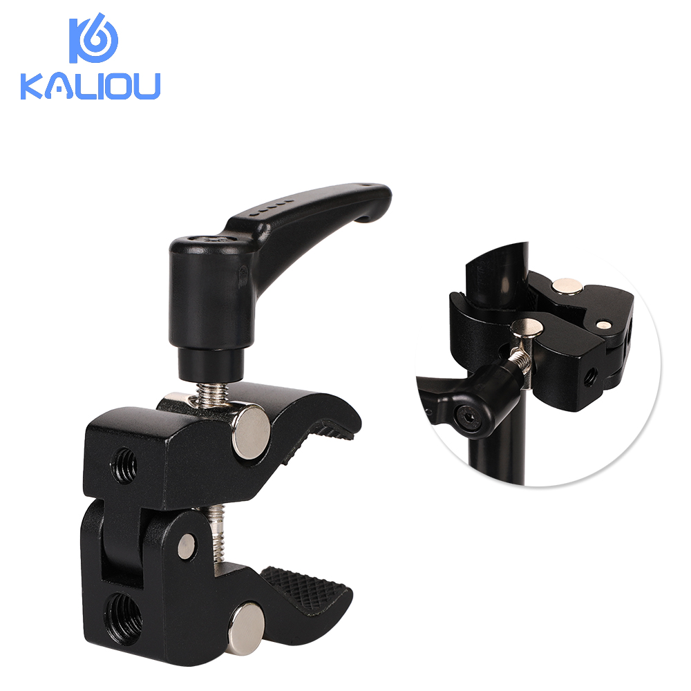 Image 2 - Kaliou Small Crab Clamp Pliers Clip Super Clamp For Flash Bracket Rig LCD Monitor Magic Arm Photo Studio Accessories-in Photo Studio Accessories from Consumer Electronics