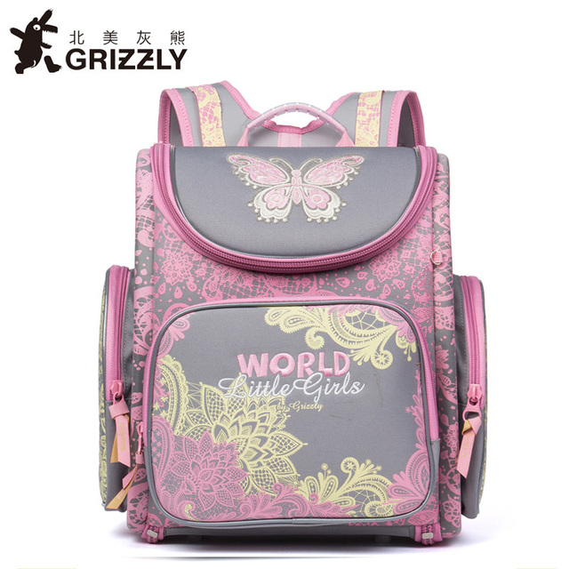 New Styles Orthopedic Children School Bags High Quality Waterproof Nylon Book Bag Age 1 3