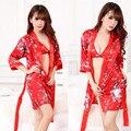 Sexy Mujeres Homewear ropa de Dormir de Mujer Ropa de Dormir Conjunto Bata Camisón de La Correa Bata Vestido