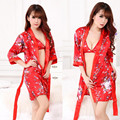 Sexy Women Home Wear Nightgown Robe Set Strap Dress Robe Sleepwear Female Nightwear