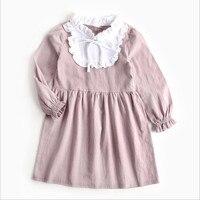 Kinderkleding kinderen 's nieuwe stijl prinses jurk katoen meisje herfst jurk