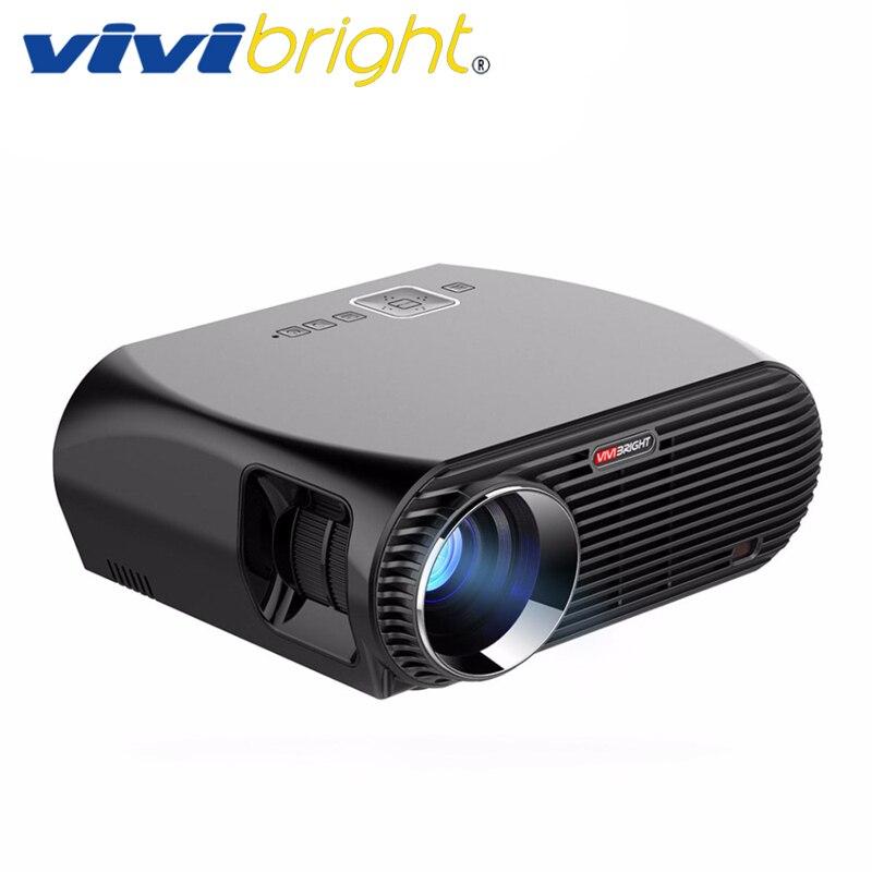 VIVIBRIGHT Android 6.0.1 светодио дный светодиодный проектор GP100 UP. 3200x800 разрешение 1280 люмен Встроенный Wi-Fi Bluetooth, DLAN Miracast Airplay