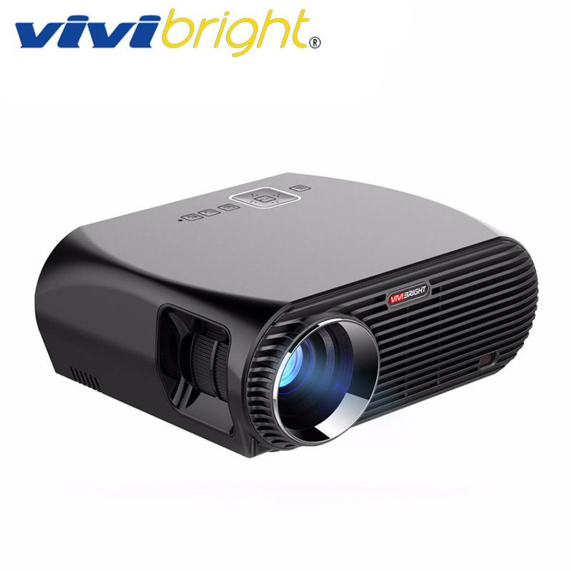 VIVIBRIGHT Android 6.0.1 projecteur LED GP100 UP. Résolution 1280x800 Bluetooth WIFI intégré 3200 Lumens, Airplay DLAN Miracast