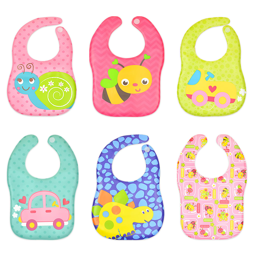 Niños eva baberos impermeables bebé dibujos animados lindo lavar - Ropa de bebé - foto 1