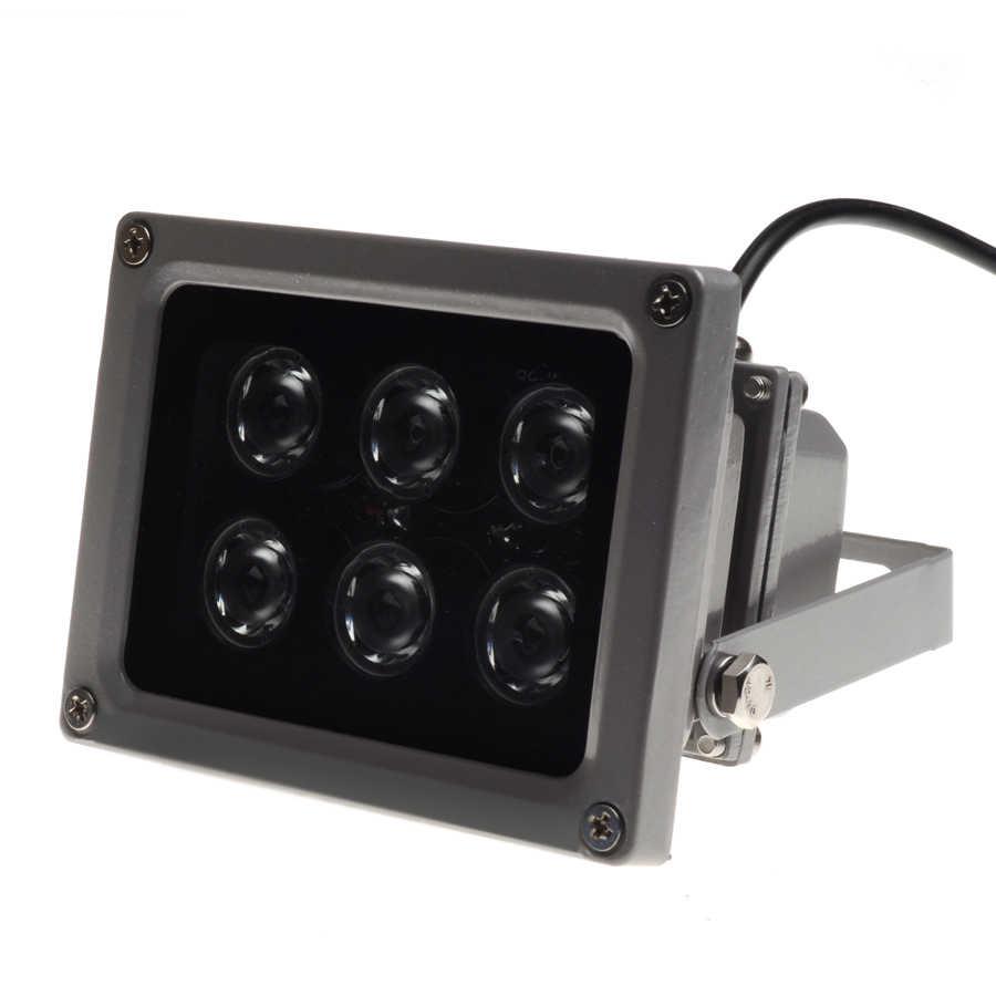 AZISHN الدوائر التلفزيونية المغلقة المصابيح أداة إصدار الأشعة تحت الحمراء مصباح الأشعة تحت الحمراء 6 قطعة مصفوفات اضواء ليد الأشعة تحت الحمراء في الهواء الطلق مقاوم للماء للرؤية الليلية CCTV ملء ضوء ل كاميرا تلفزيونات الدوائر المغلقة