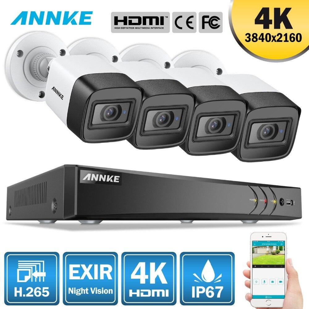 ANÃO 4K 8CH HD Ultra Clear Filme H.265 5in1 do Sistema de Segurança CCTV + DVR Com 4X Ou 8X8 MP Ao Ar Livre À Prova de Intempéries Kit De Vídeo Em Casa