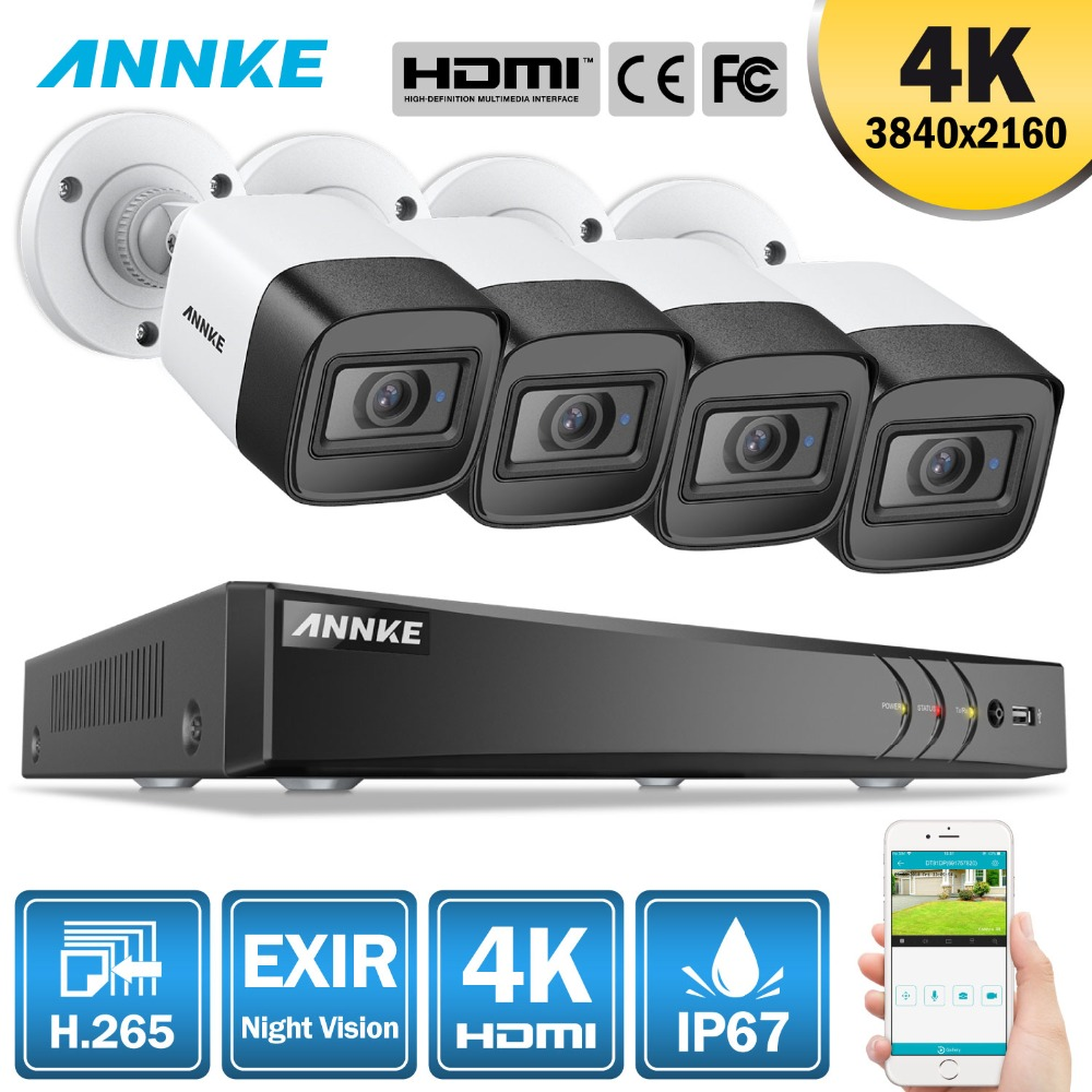 ANNKE 4K 8CH HD Ultra Clear Footage CCTV Security System 5in1 H.265+ DVR With 4X Or 8X 8MP Outdoor Weatherproof Home Video KitANNKE 4K 8CH HD Ultra Clear Footage CCTV Security System 5in1 H.265+ DVR With 4X Or 8X 8MP Outdoor Weatherproof Home Video Kit