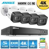 ANNKE 4K 8CH HD Ultra Clear Footage CCTV Security System 5in1 H.265+ DVR With 4X Or 8X 8MP Outdoor Weatherproof Home Video Kit