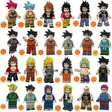 Dragon Ball Z Super Saiyan Son Goku Vegeta Crilin Jiaozi Tien Shinhan Bardock Giocattolo Figura Building Block Compatibile con Lego