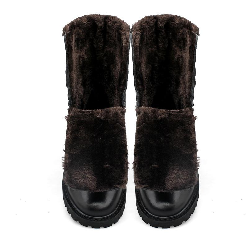 Nieve Militares Black Tamaño Without Planos black Genuino Los Casuales Plush Hombre Plus With Hombres Cuero Zapatos De Invierno Botas Plush Piel 6dZpxqpzw
