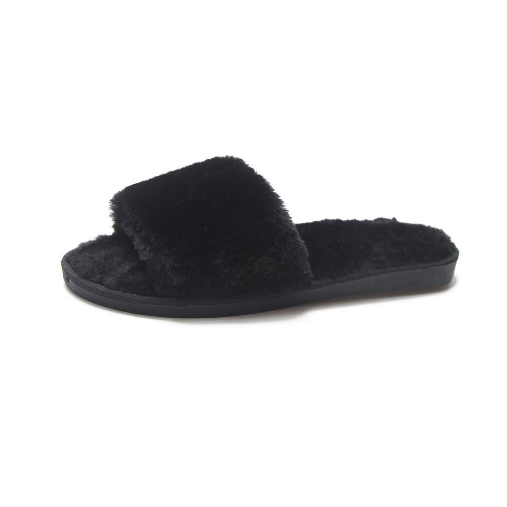 Dropwow Designer Fluffy Fur Women Winter Slippers Female Plush Home ... ea157eda6a4e