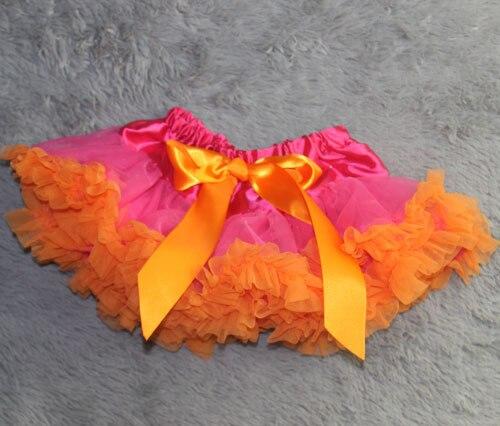 Юбка-пачка Одежда для маленьких девочек; нарядная одежда; юбка-пачка балетная юбка, пачка летняя одежда аксессуары для фотографирования новорожденных, ярко-розовым шифоном - Цвет: orange  ruffled