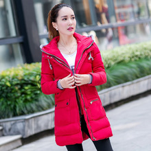 5XL winter down coat Long zipper winter jacket double zippers parkas woman's down coat 3 colors