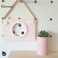 2016 INS Baby Kids Wooden Photo Camera Shape Wall Decortion Accessories For Kids Baby Boys Girls