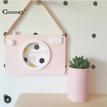 Love Hollow Wooden Photo Frame Set Camera Shape Wall Decoration Accessories For Kids Baby Boys Girls Bedroom Liveroom DIY Decor