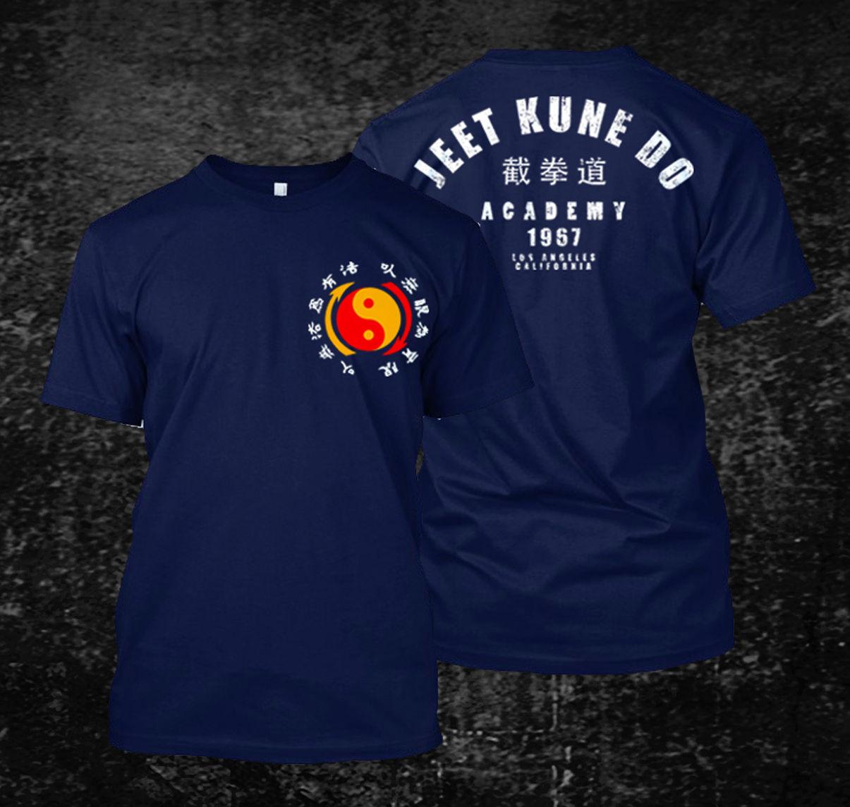 Venda quente jeet kune do academy t-camisa masculina de manga curta 100% algodão t camisa hip hop camisetas topos harajuku streetwear 3