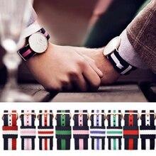 Купить с кэшбэком 1pcs Nato Strap18mm  20mm Nylon Watch Band Waterproof Watch Strap On For Hours men watchbands