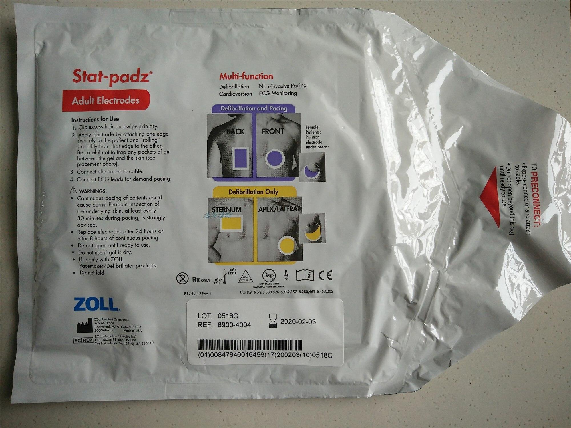 para Zoll Original Folha de Pedido M-series Desfibrilador Eletrodo n° 8900-4004