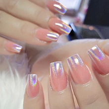 1Box 0.2g Shining Laser Nail Glitter Chrome Rainbow Pigment Holographic Powder Manicure Art Decor BESL0620X02
