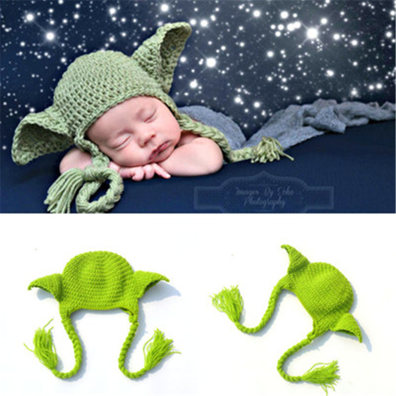 2018 Hot selling Star Wars Yoda Yoda Beanie Baby Crochet Hat Boys Winter Hat  Knitted Kid Baby Photography Props Chapea -in Hats   Caps from Mother    Kids on ... 3c5fccf6a82