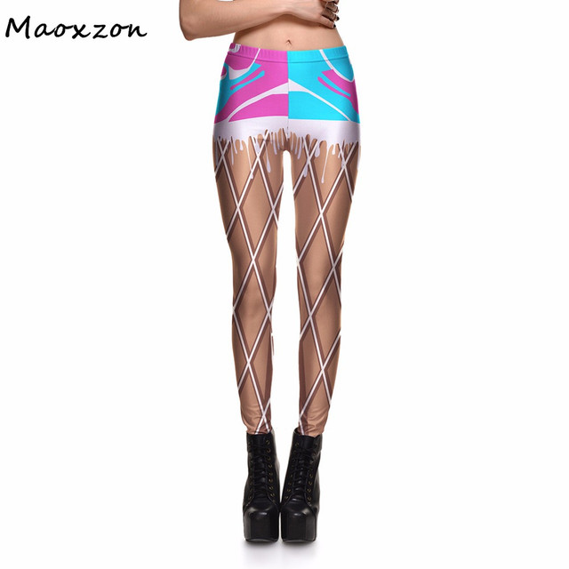 30940d57cb267 Maoxzon Womens Plaid Digital Print Fitness Workout Skinny Leggings For  Ladies Plus Size Sexy Casual Active Slim Elastic Pants