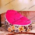Tampa do saco de feijão bebê com 2 pcs rosa para cima da tampa de feijão bebê mobília do saco de feijão sacos cadeira do saco de feijão do bebê sofá FRETE GRÁTIS