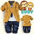 2016 Spring Autumn woolen cotton baby suit Boys Clothing set 0-3 years old