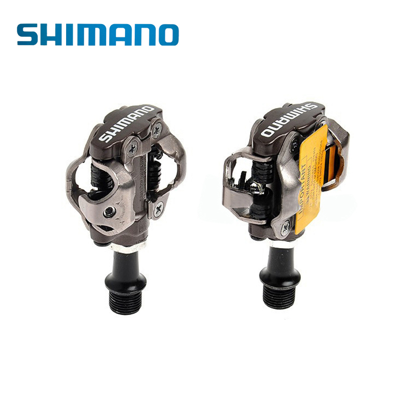 SHIMANO PD-M540 M540 Chrome-moly & Aluminum Compact MTB Bike Bicycle Cycling Self-Locking Pedal With Clipless SPD SM-SH51 Cleats shimano pd m545 spd bicycle cycling pedal mtb mountain xc clipless bike incl sm sh51 cleats mountain bike pedals