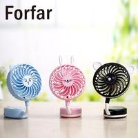3Color Tent USB Cartoon Mini Small Folding Hand Held Desk Fan Rechargeable Fans DC 5V Outdoor