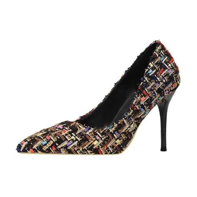 3a33c712f5b Autumn Women Pumps Winter Boots Elegant Shoes Nude Heels Sexy High Heels  Pumps Scarpin Sapatos Femininos