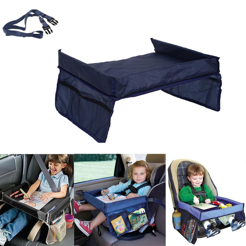 Waterproof Portable Baby Kids Car Seat Snack N PlayTravel Tray On the Go Drawing Board Table Organizer Car Seat Cover