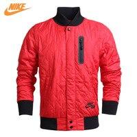 Nike Original Hommes Sports D'hiver Style Épais Coton Chaud Rouge Veste 689377-657