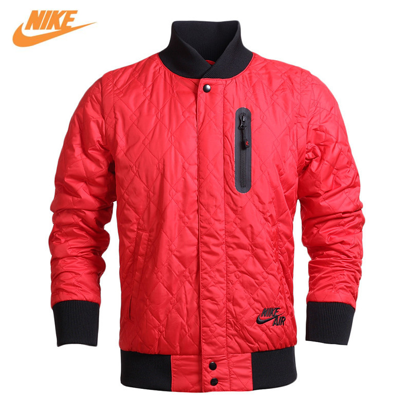 Nike Original Mens Winter Sports Style Thick Cotton Warm Red Jacket 689377-657 nike nike fuelband sports bracelet battery cover green m