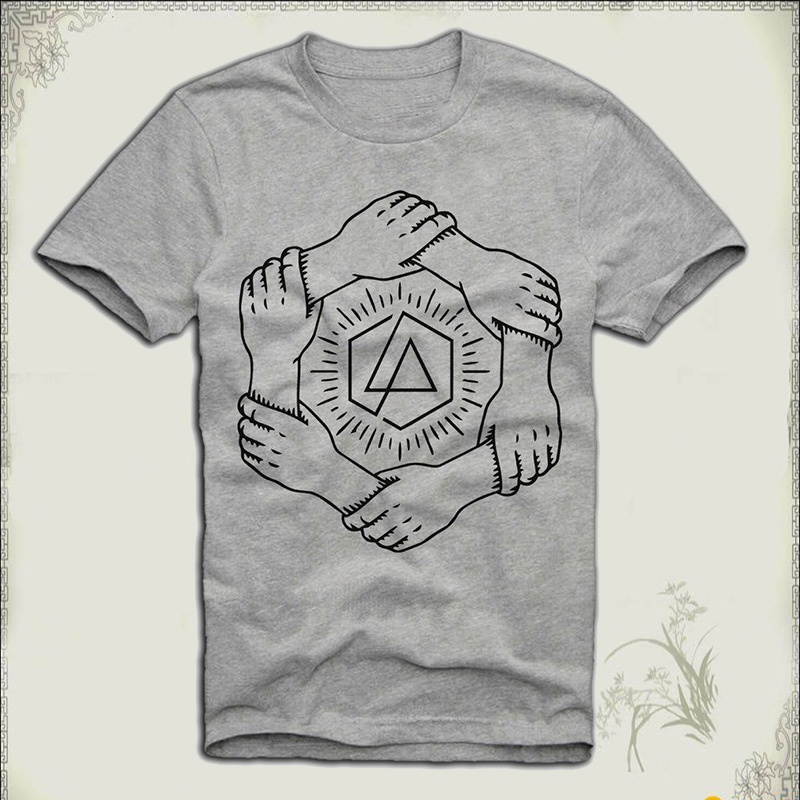 Tee Shirt Shop Design Crew Neck Mens T-Shirt Linkin Park One More Light Art Chester Bennington Short-Sleeve T Shirts For Men