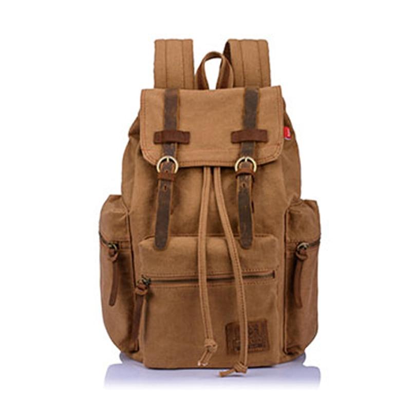 ФОТО men Backpack Mountaineering bags Travel Bag Casual Vintage School Bags Muddy Color