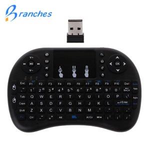 Image 1 - Mini i8 Drahtlose Tastatur 2,4 GHz Englisch Buchstaben Multi Medien Luft Maus Fernbedienung Touchpad Für Android TV Box