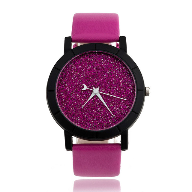 Watches women Casual Star Minimalist Fashion Watch PU Leather Ladies bracelet wa
