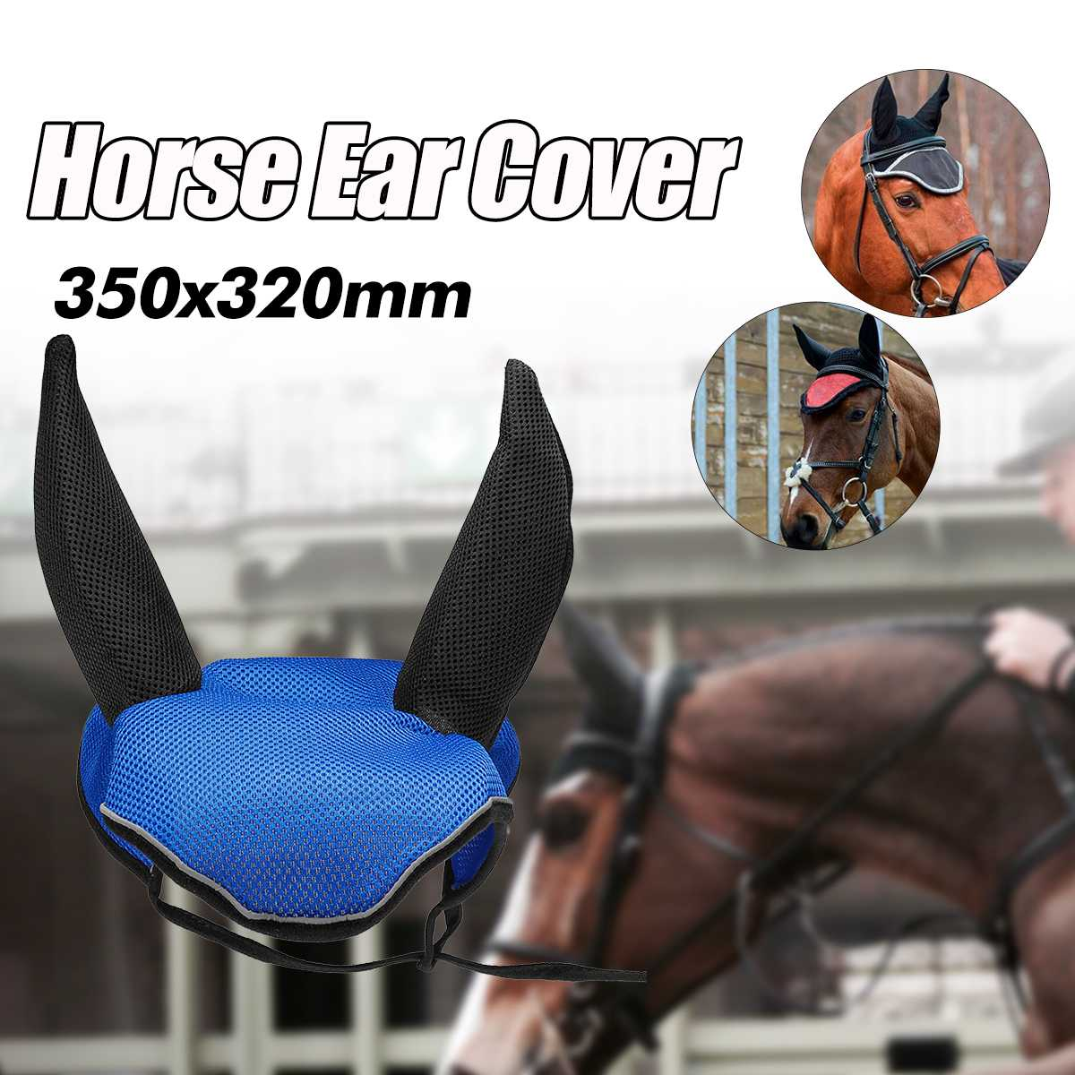 Outdoor Equipment Horse Ear Cover  HorseEquestrian Protector Horse Riding Breathable Meshed Ear Net Cover Prevent Insects