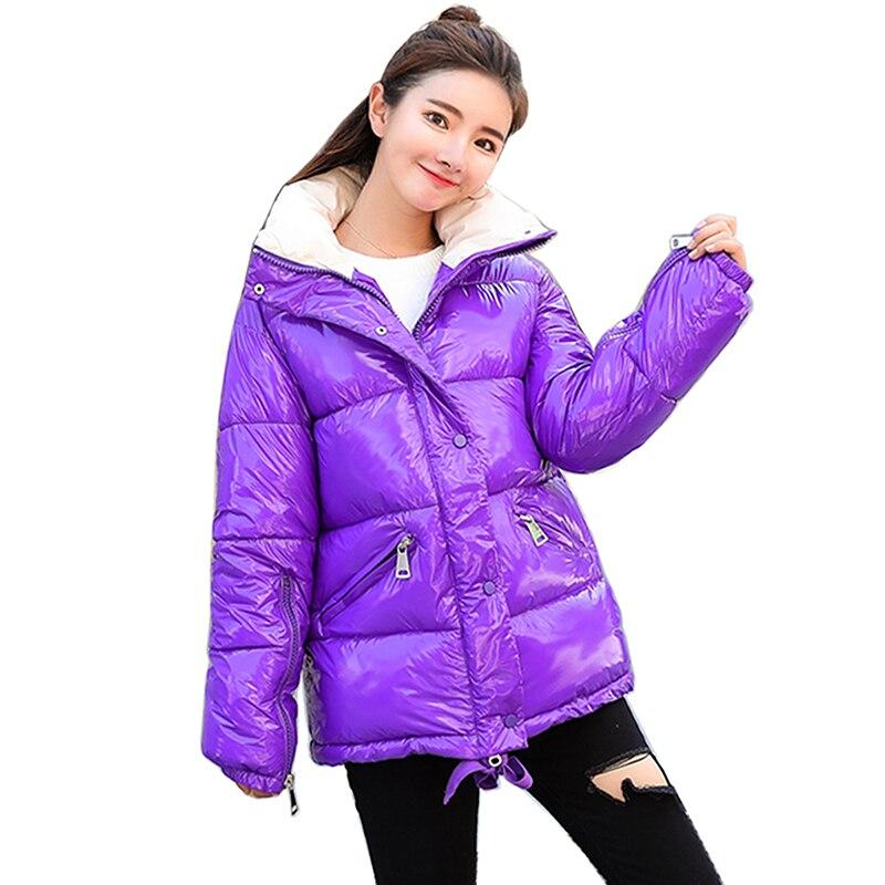 winter Women   Parka   Jacket High collar Elegant Overcoat Snow Coats Warm Thick Feather   Parkas   Women 2018 New Fashion Winter Coat