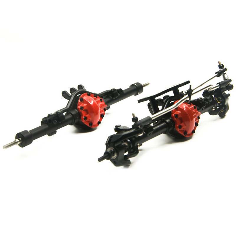 Red black Alloy Front & Rear Axle ARB Edition Complete With box For D90 1/10 RC Crawler