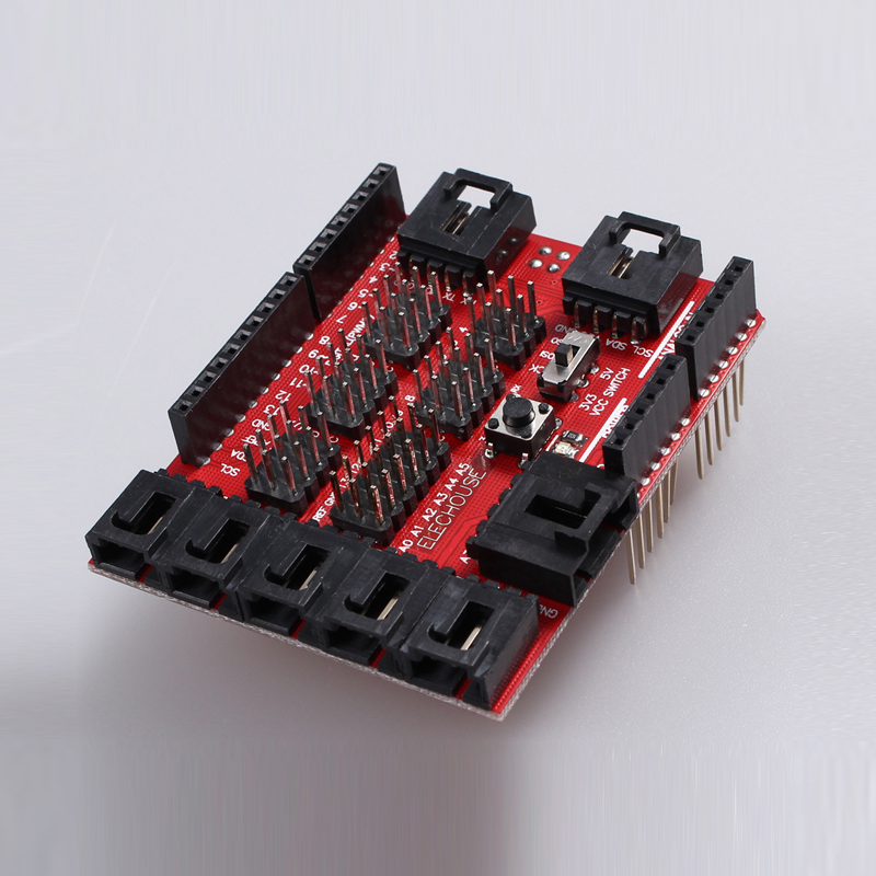 Sensor font b Shield b font V8 Digital Analog Module Board for font b Arduino b