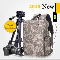 Camera Bag Backpack Case for Photography & Laptop Cover for Sony a6000 Canon EOS T6 Nikon D5500 DSLR/SLR Bags for Man Women
