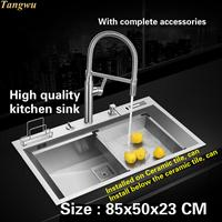 Tangwu High Quality Kitchen Sink 4 Mm Food Grade 304 Stainless Steel Mesa Control The Drainage