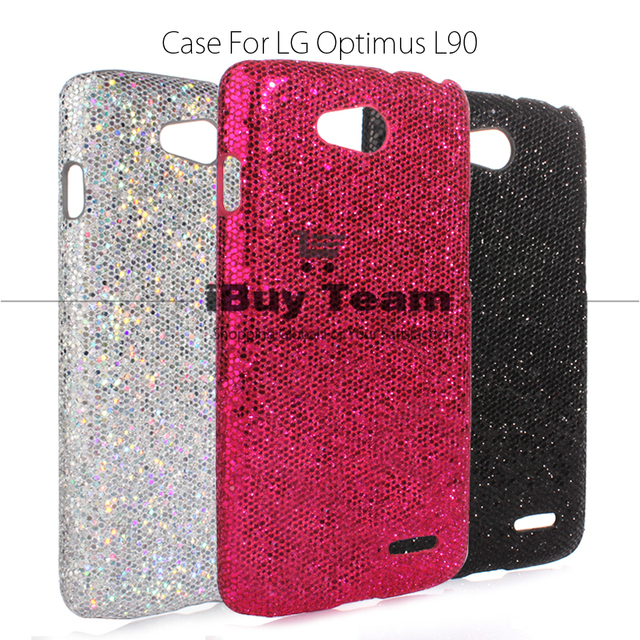 new arrivals d10b6 2f95b US $5.7 |For LG L90 D405 Case Luxury Bling Hard Plastic Back Cover for LG  L90 Dual D410 Slim Black Phone Protective Shell-in Half-wrapped Cases from  ...