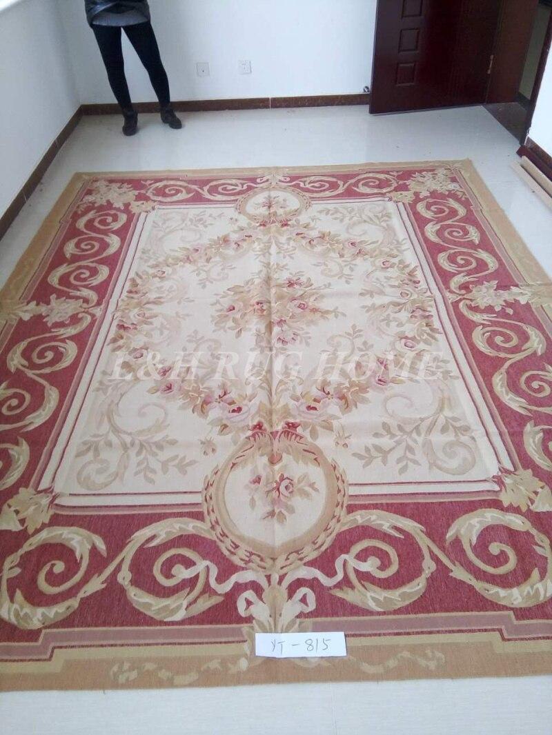 Livraison gratuite 9'x12' Aubusson tapis français aubusson tapis tissé à la main tapis en laine tapis pour la décoration de la maison