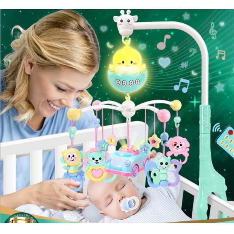 Baby Bed Bell 0-1 Year Old Toy 3-6 Months 12 Male Baby Female Music Rotating Puzzle Rattle Bedside Bell