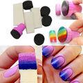 10 unids/set Omber Nail Art Sello de Esponja de Color Degradado Estampado Plantilla de Transferencia de Pintura de Esmalte de Uñas de Manicura Herramienta de La Plantilla de Nueva
