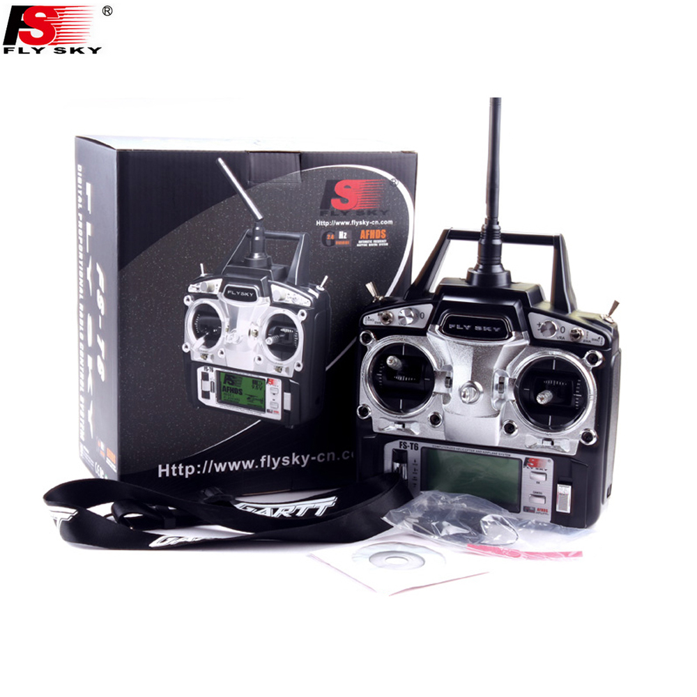 1pcs FS FlySky FS T6 FS T6 6ch 2 4g with LCD Screen Transmitter with FS